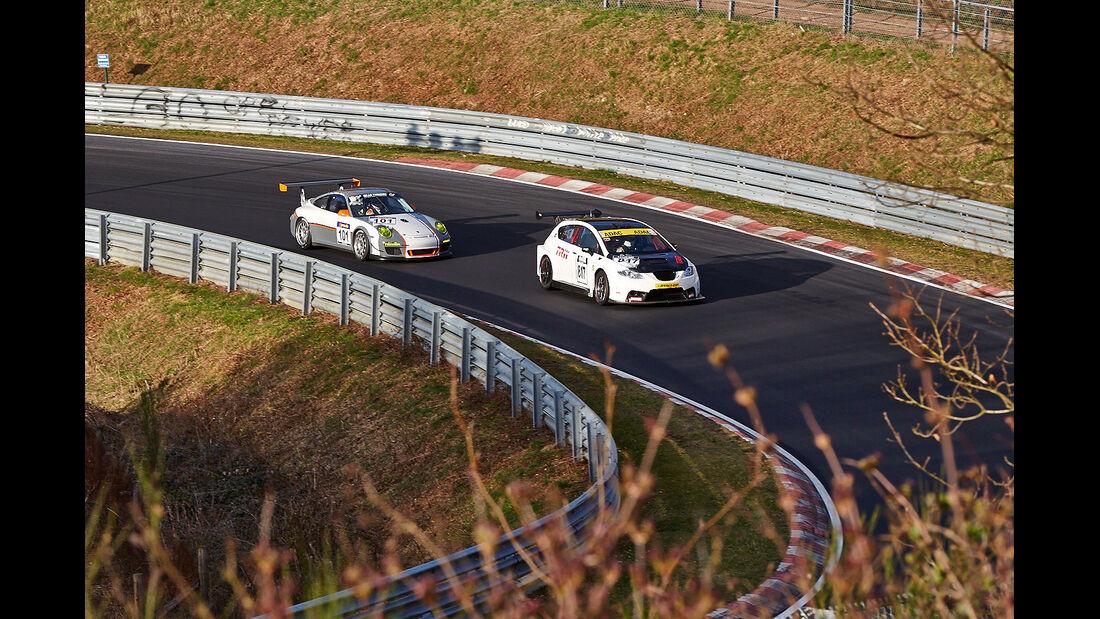 Impressionen, VLN Probe- und Einstellfahrt, Nürburgring, Nordschleife