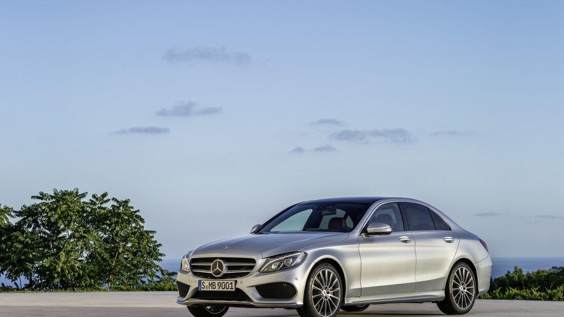 In den USA steht die neue Mercedes C-Klasse noch nicht beim Händler.