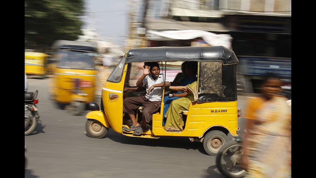 Indisches Taxi, Dreirad