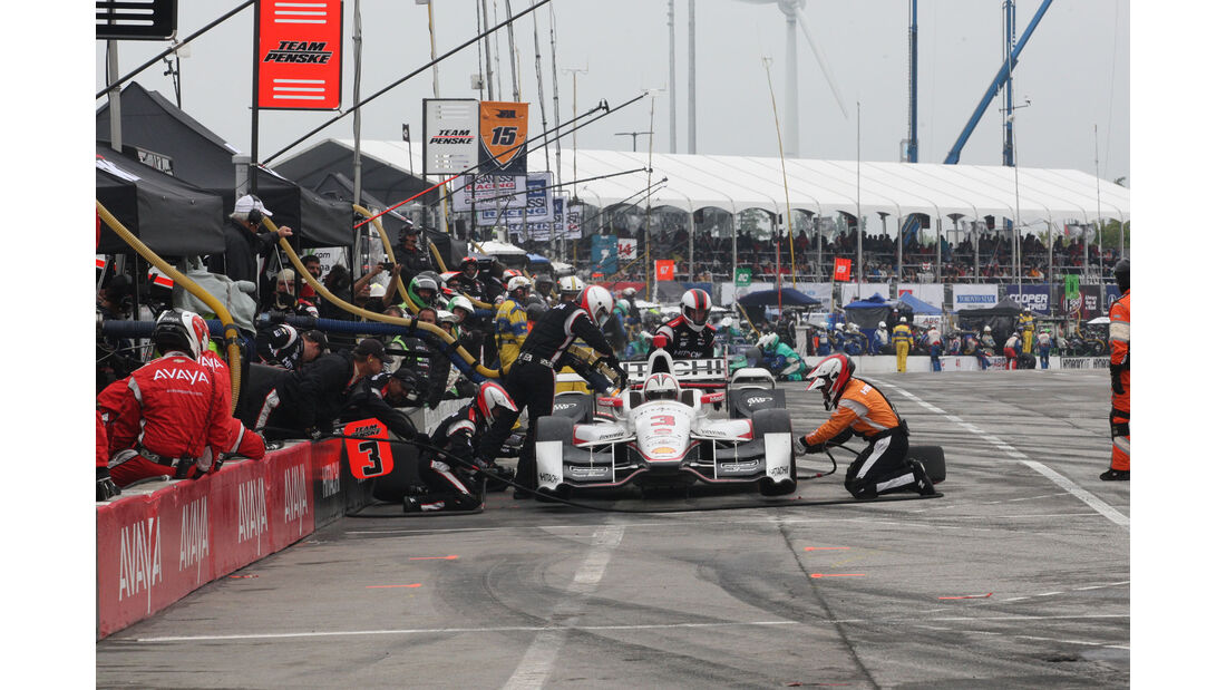 IndyCar - Motorsport - Boxenstopp - Castroneves