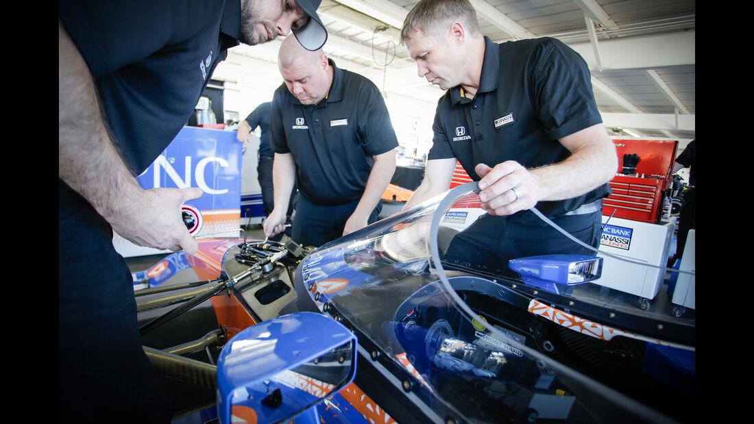 IndyCar - Screen-Test - Scheibe - Scott Dixon - Phoenix - 2018