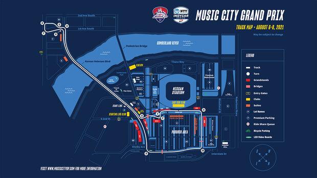 IndyCar - Trackmap - Layout - Nashville - 2021