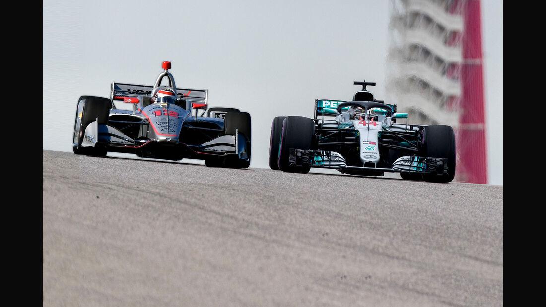 IndyCar vs. Formel 1 - Austin - 2019