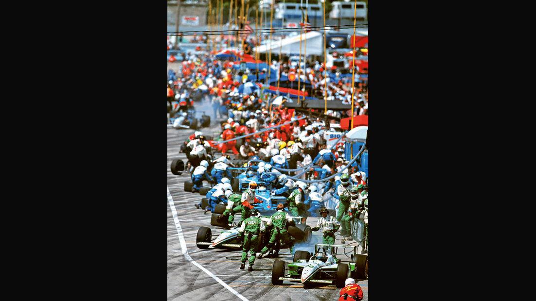 Indycar Milwaukee, 1999, Boxenstopp