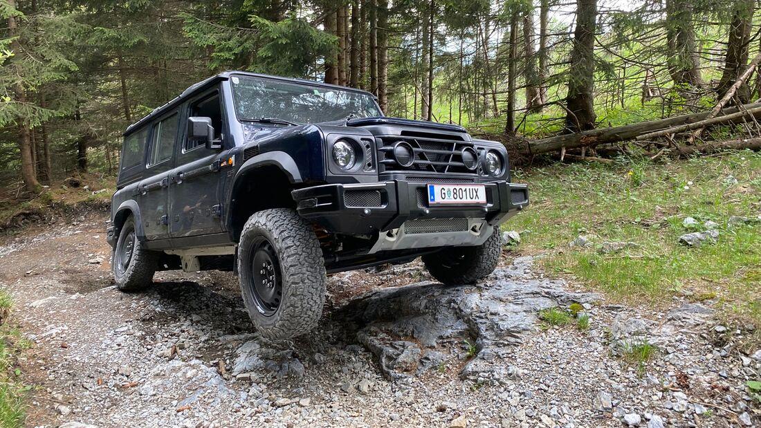 Ineos Grenadier Fahrbericht Prototypen in Graz