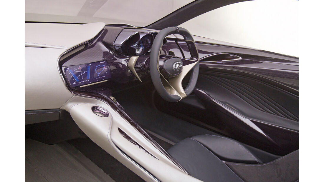 Infiniti Emerg-E, Lenkrad, Fahrersitz