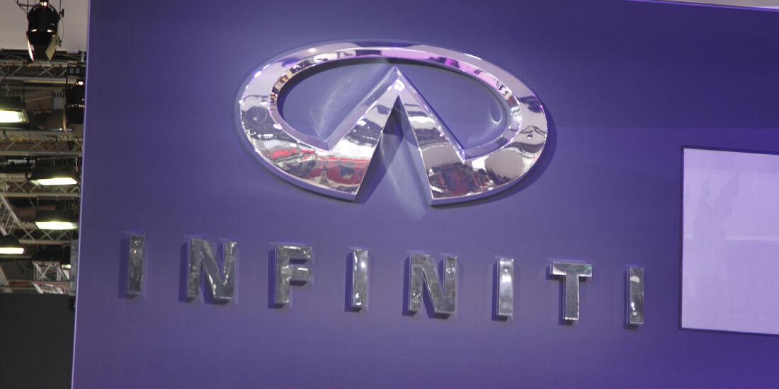 Infiniti Logo, Messe, Autosalon Paris 2012