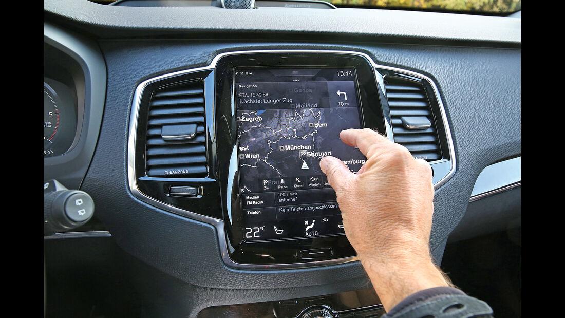 Infotainment-Bedienung, Volvo XC90