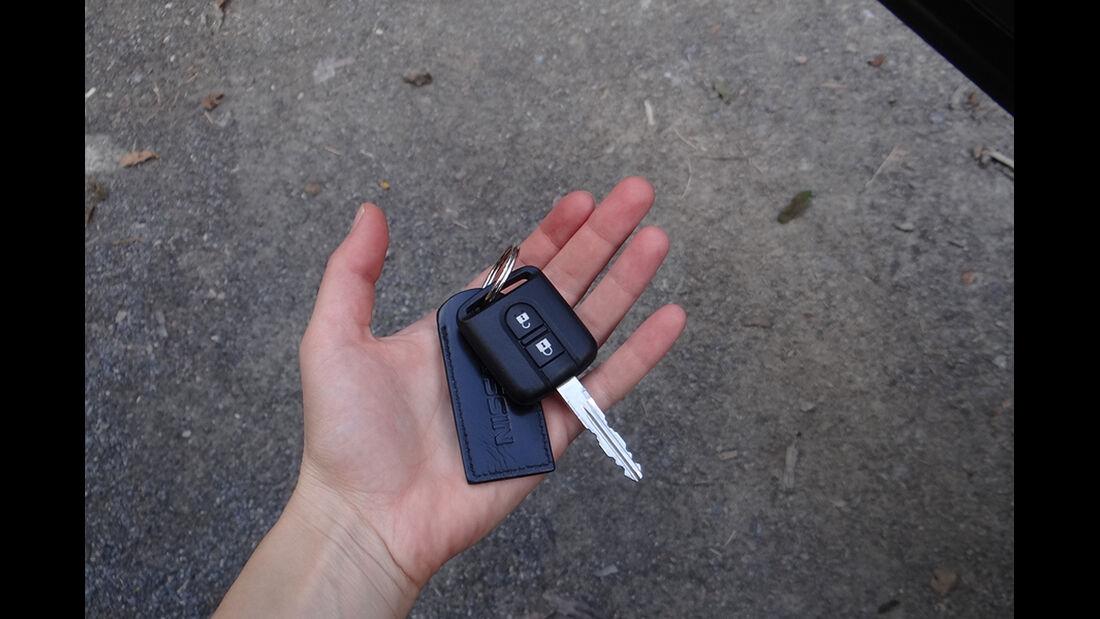 Innenraum-Check Nissan Qashqai, Zündschlüssel