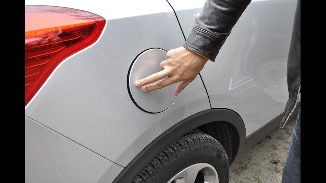 Innenraum-Check Opel Mokka, Tankdeckel