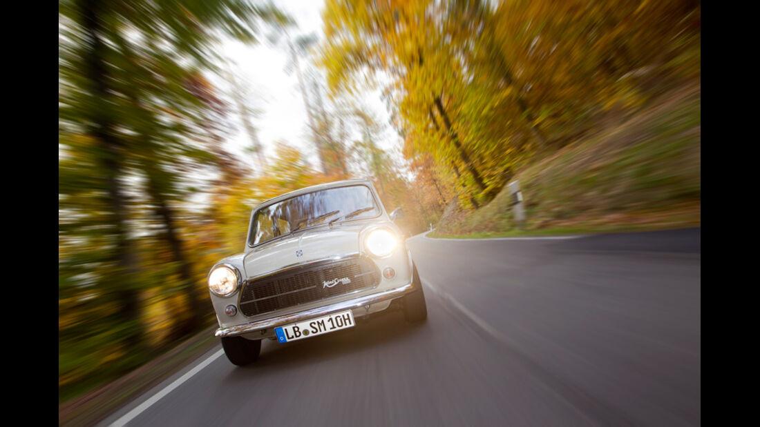 Innocenti Mini Cooper 1300 Export, Front, Scheinwerfer