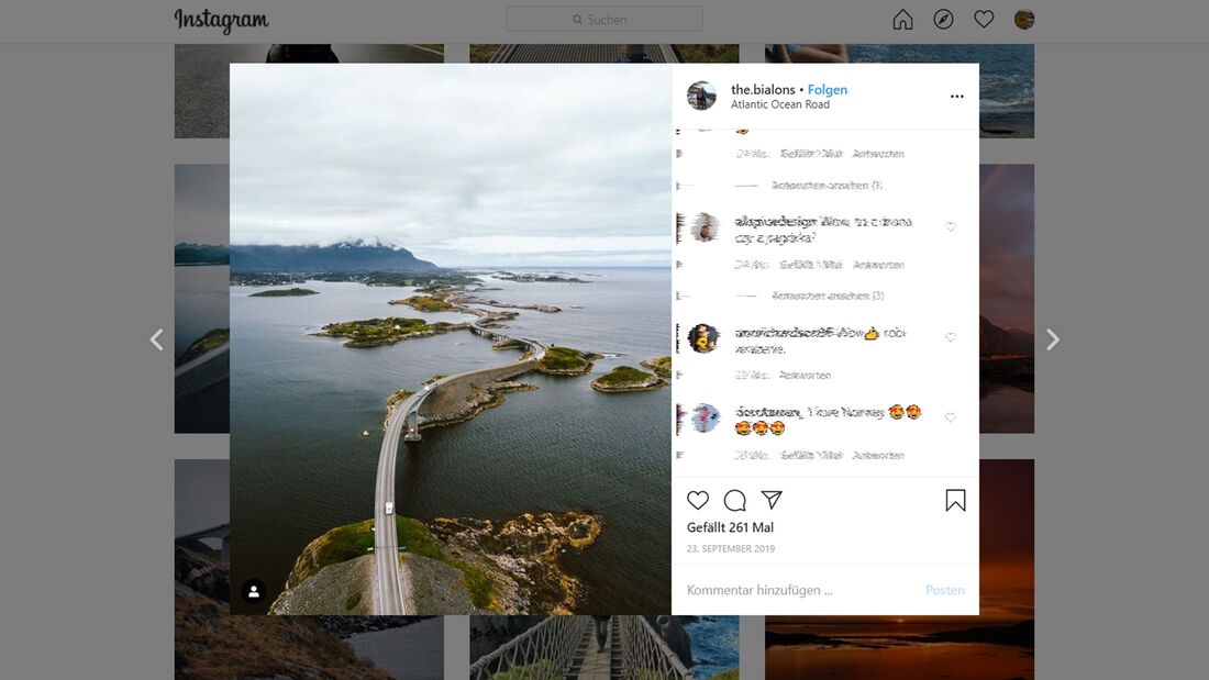 Instagram Atlantic Road