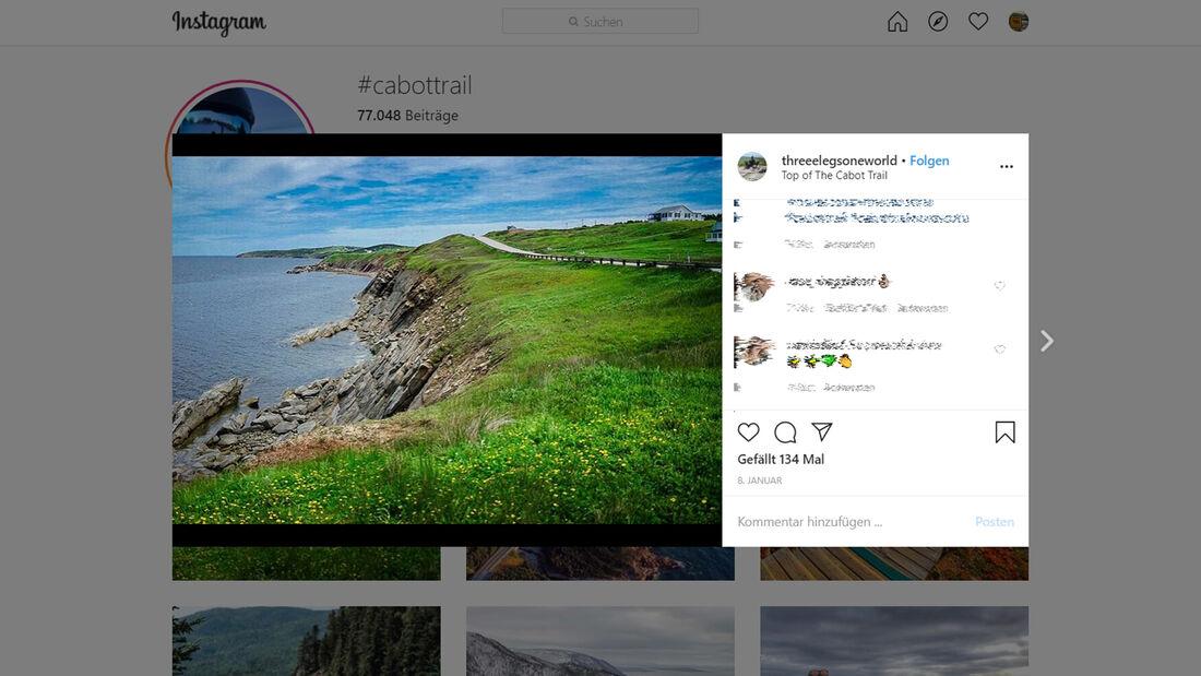 Instagram Cabot Trail