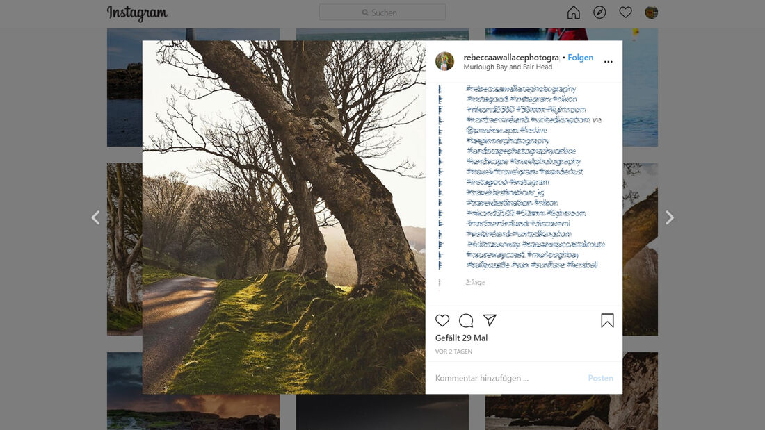 Instagram Causeway Coastal Road