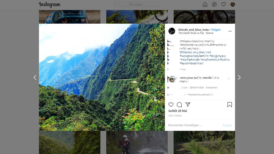 Instagram Death Road