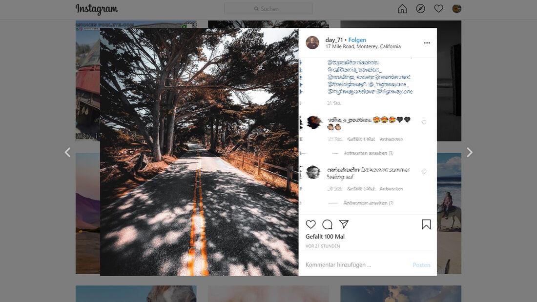 Instagram Pacific Coast Highway