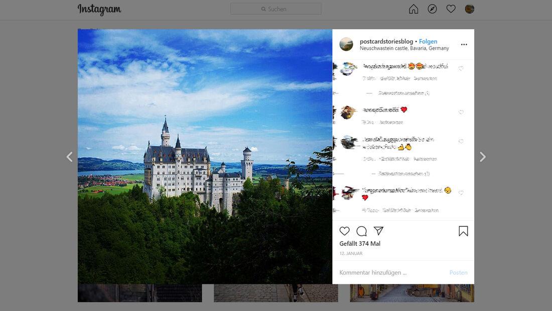 Instagram Romantische Straße