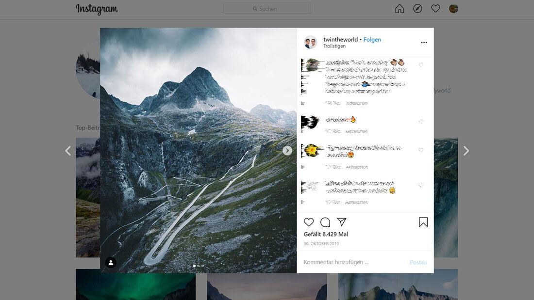 Instagram Trollstigen
