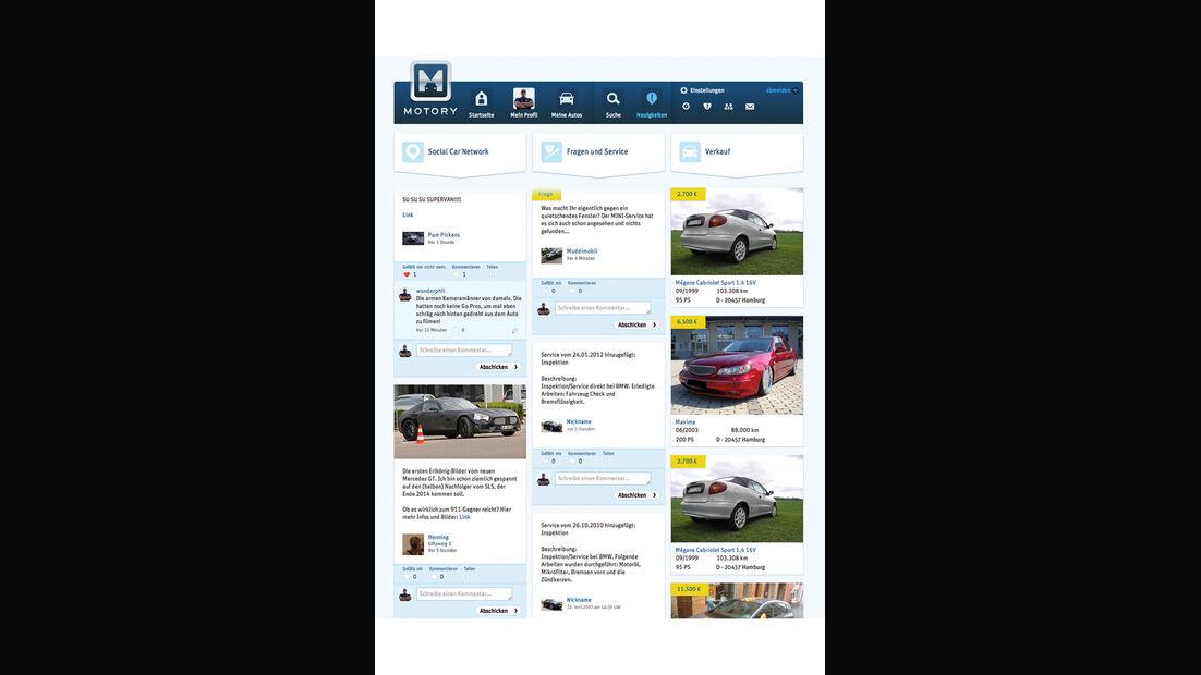 Internetportal Motory, Neuigkeiten