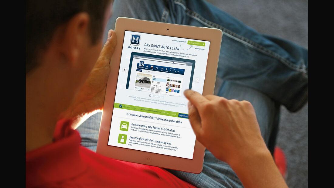 Internetportal Motory, iPad
