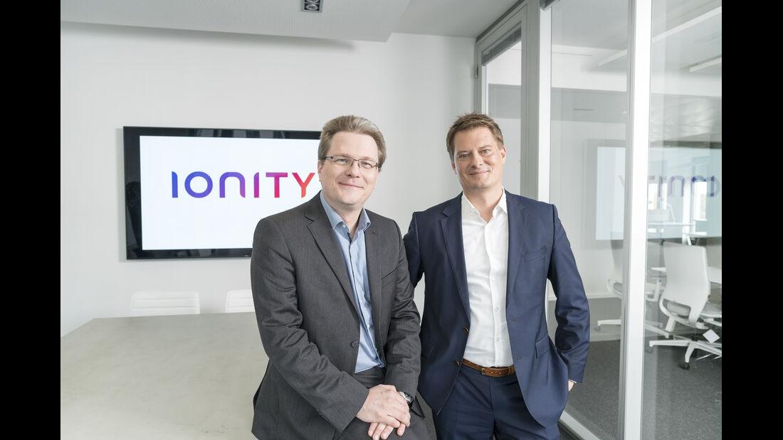 Ionity Geschäftsführung Marcus Groll und Michael Hajesch