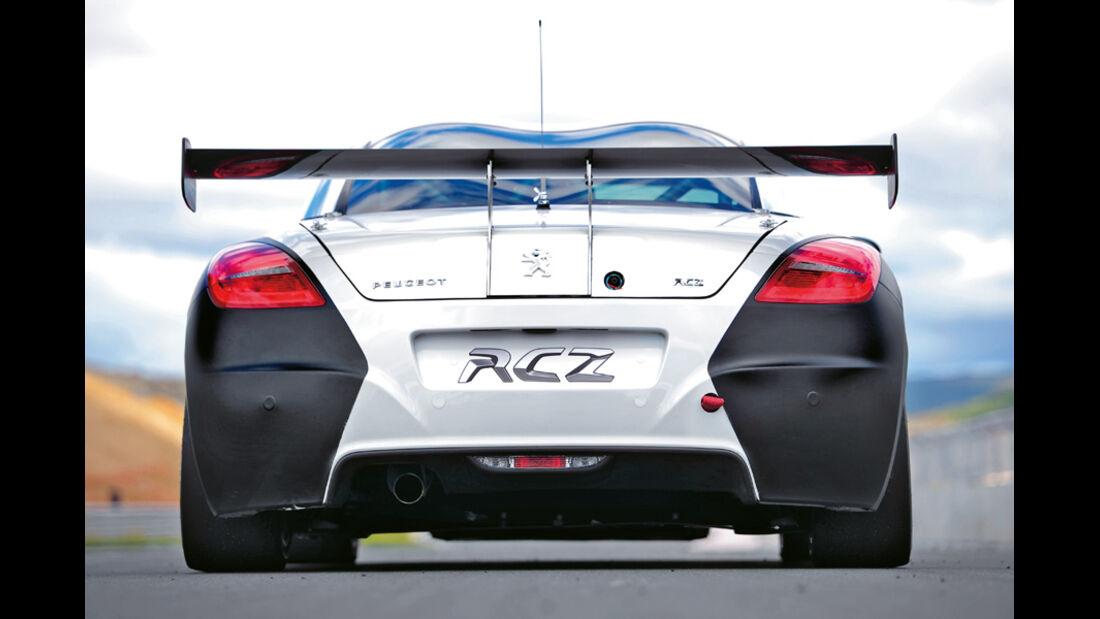 Irmscher Peugeot RCZ Cup-Rennfahrzeug, Heck