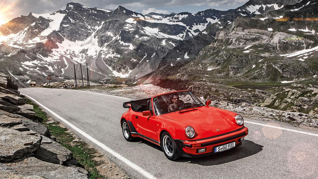 Italienische Alpen, Reise, Porsche 911 Turbo 3.3 Cabrio, Impression