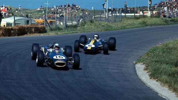 Jack Brabham - Brabham BT19 - Jim Clark - Lotus 33 - GP Niederlande 1966 - Zandvoort
