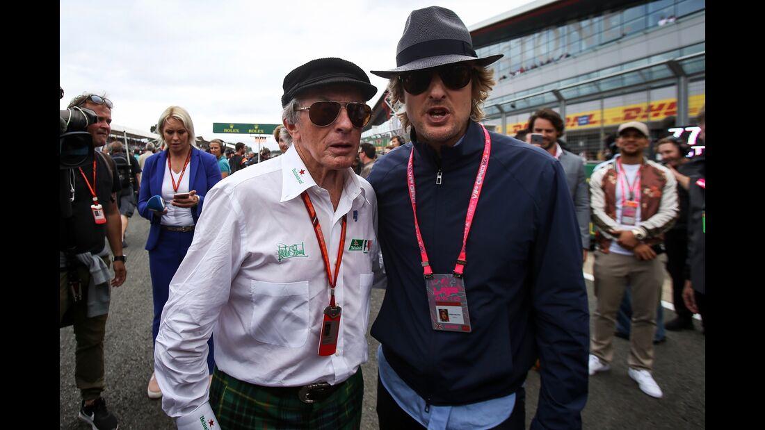Jackie Stewart - Owen Wilson - Formel 1 - GP England - 16. Juli 2017