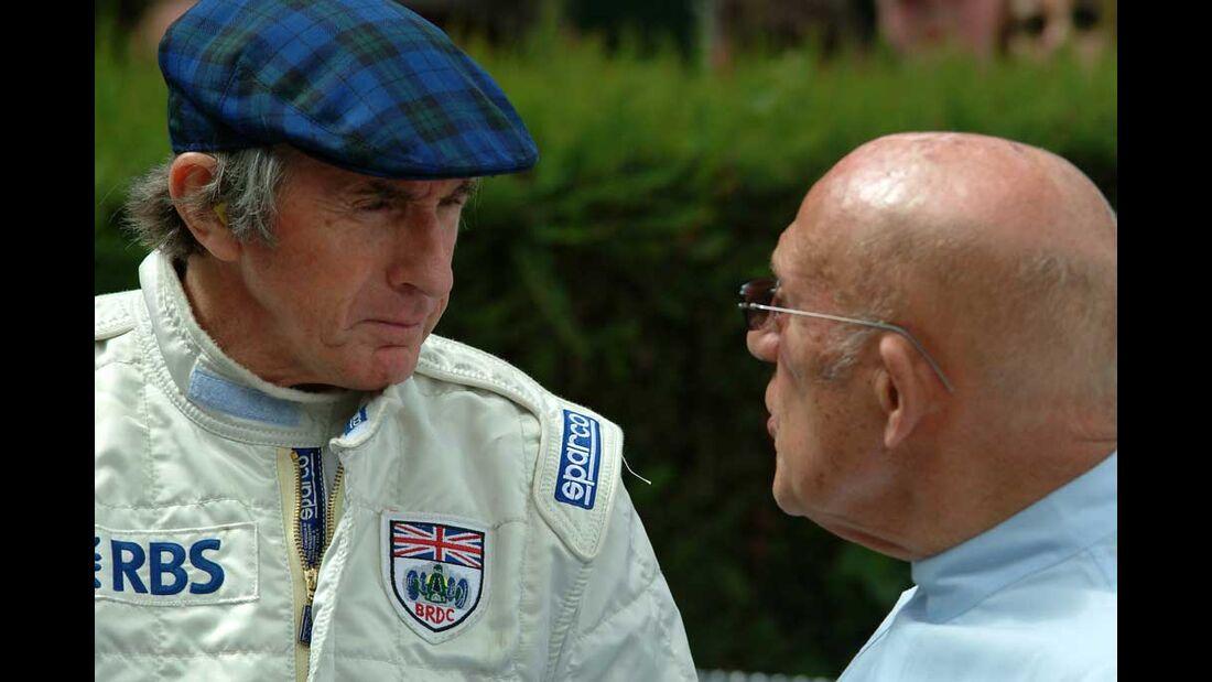 Jackie Stewart und Stirling Moss