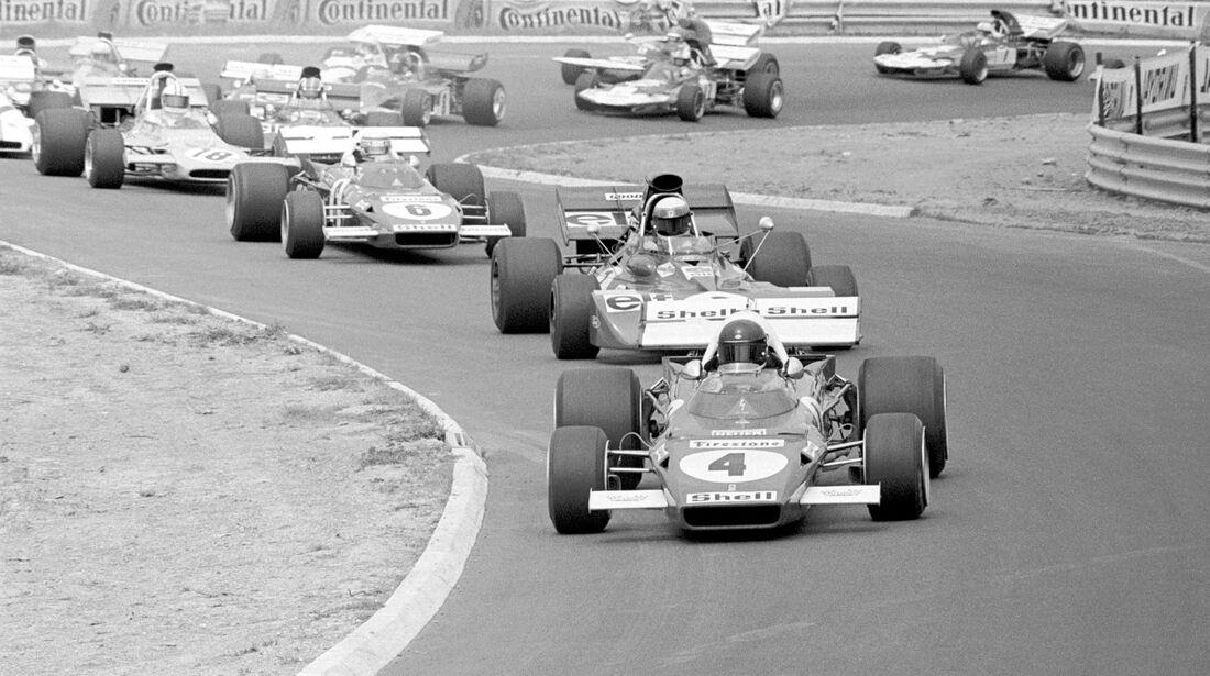 Jacky Ickx - Ferrari 312B2 - Jackie Stewart - Tyrrell 003 - Clay Regazzoni - Ferrari 312B2 - GP Deutschland 1971 - Nürburgring