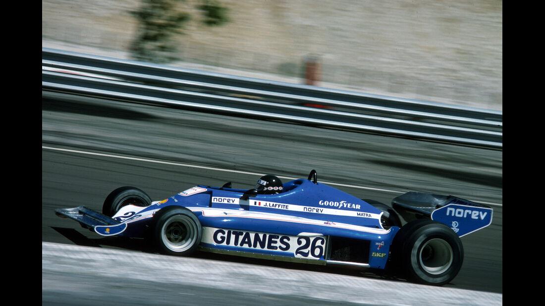 Jacques Laffite 1977 GP Frankreich