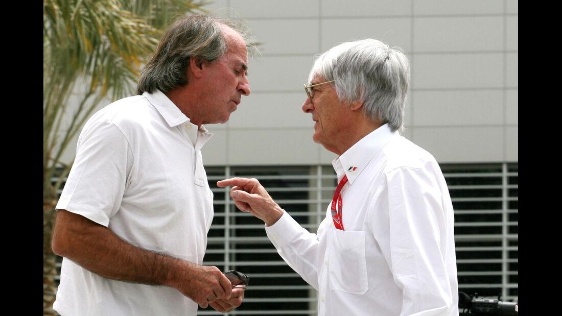 Jacques Laffite Bernie Ecclestone