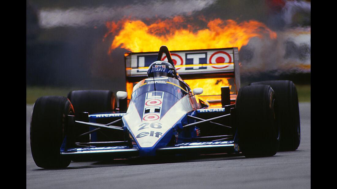 Jacques Laffite - Ligier JS27 - GP England 1986