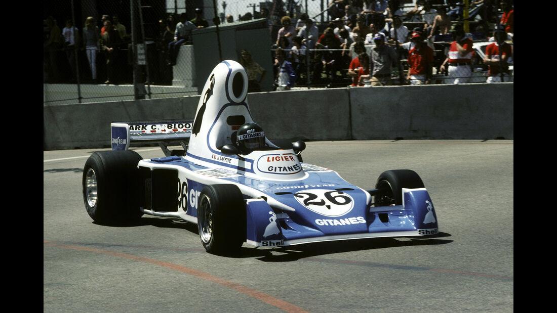 Jacques Laffite - Ligier JS5 - GP USA West 1976