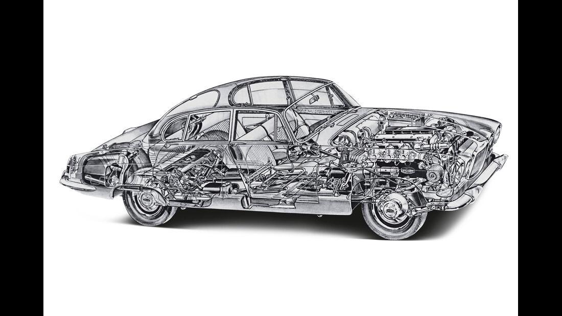 Jaguar  420 G, Durchsicht
