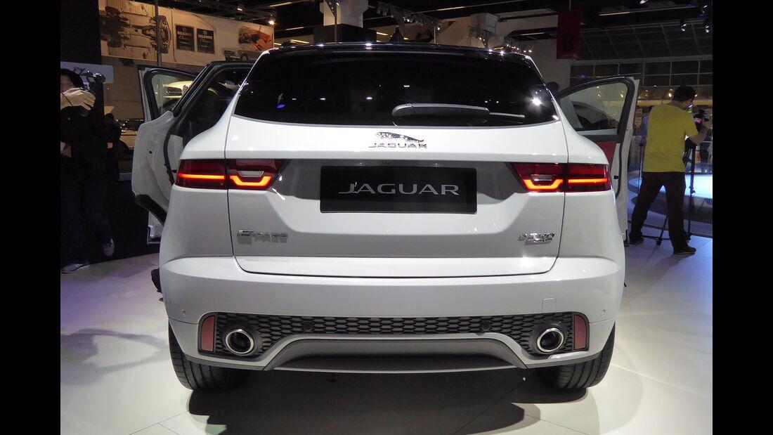 Jaguar E-Pace - Auspuff - IAA Frankfurt 2017
