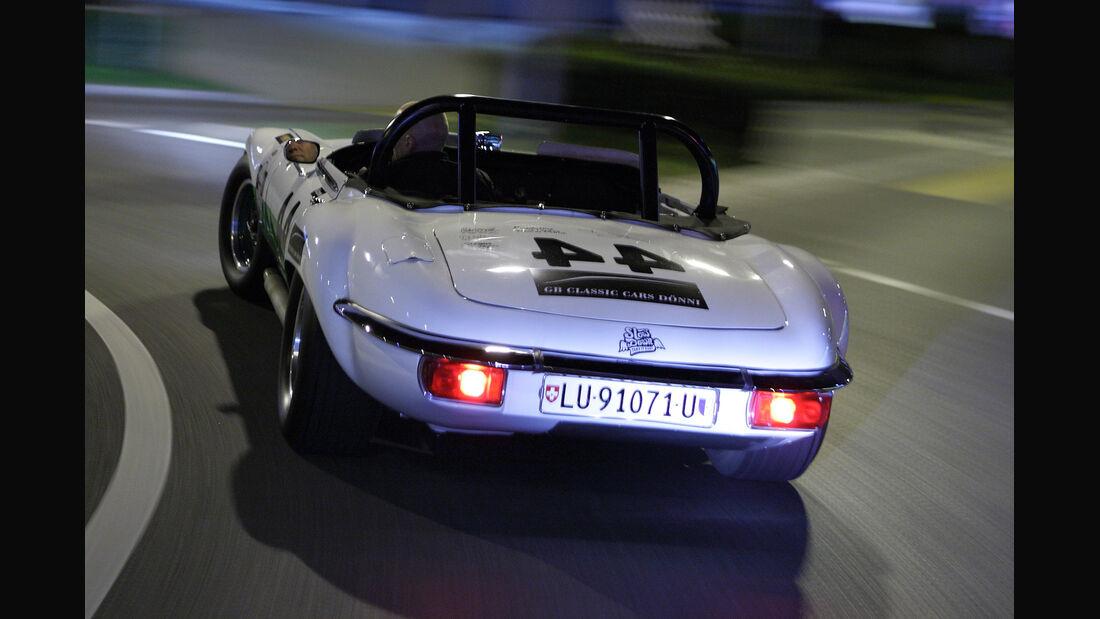 Jaguar E-Type Group 44, Rücklichter, Heck