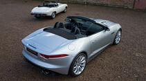 Jaguar E-Type, Jaguar F-Type, Heckansicht