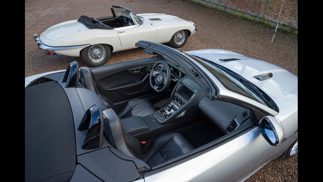 Jaguar E-Type, Jaguar F-Type, Seitenansicht