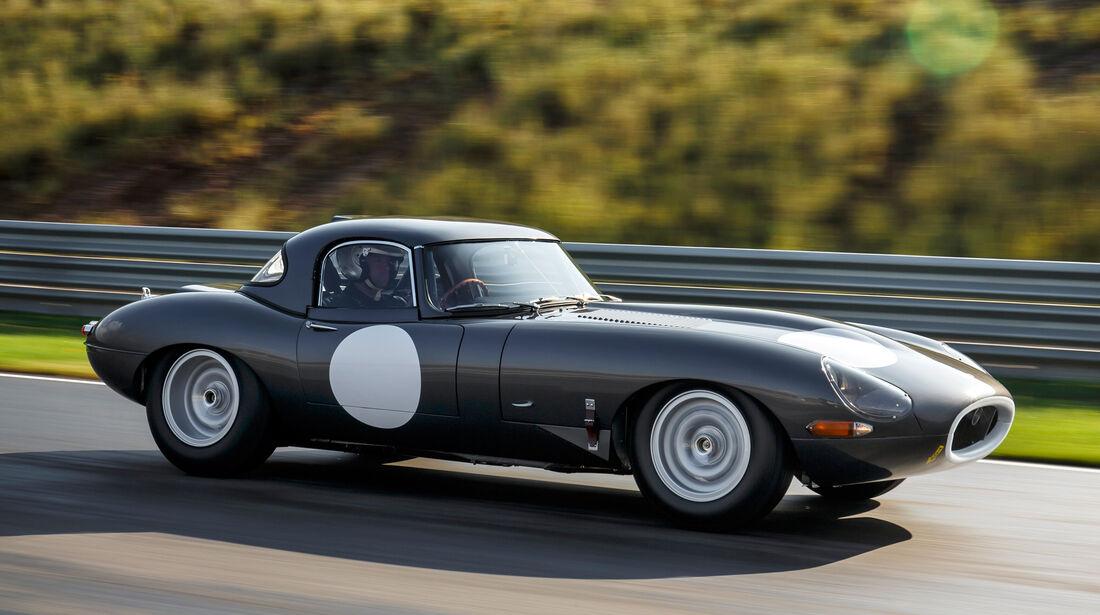 Jaguar E-Type Lightweight, Seitenansicht