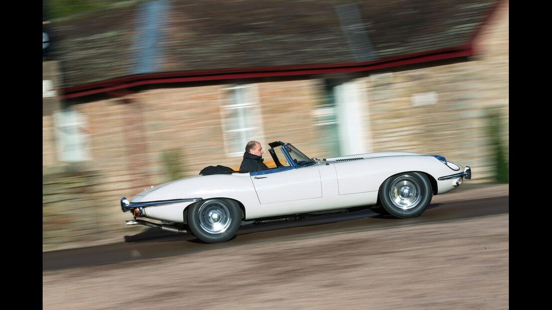 Jaguar E-Type, Seitenansicht