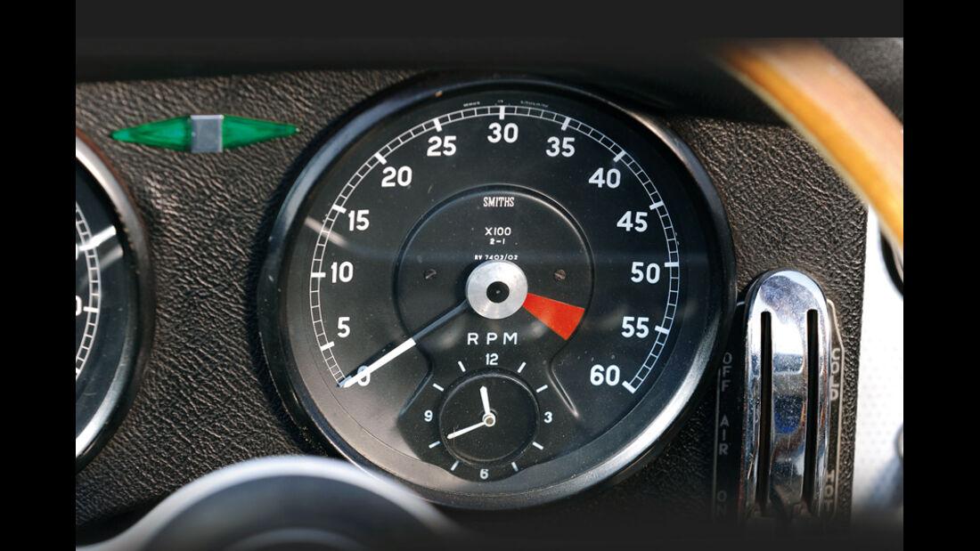 Jaguar E-Type Serie 1, Anzeigeinstrument, Detail, Drehzahlmesser