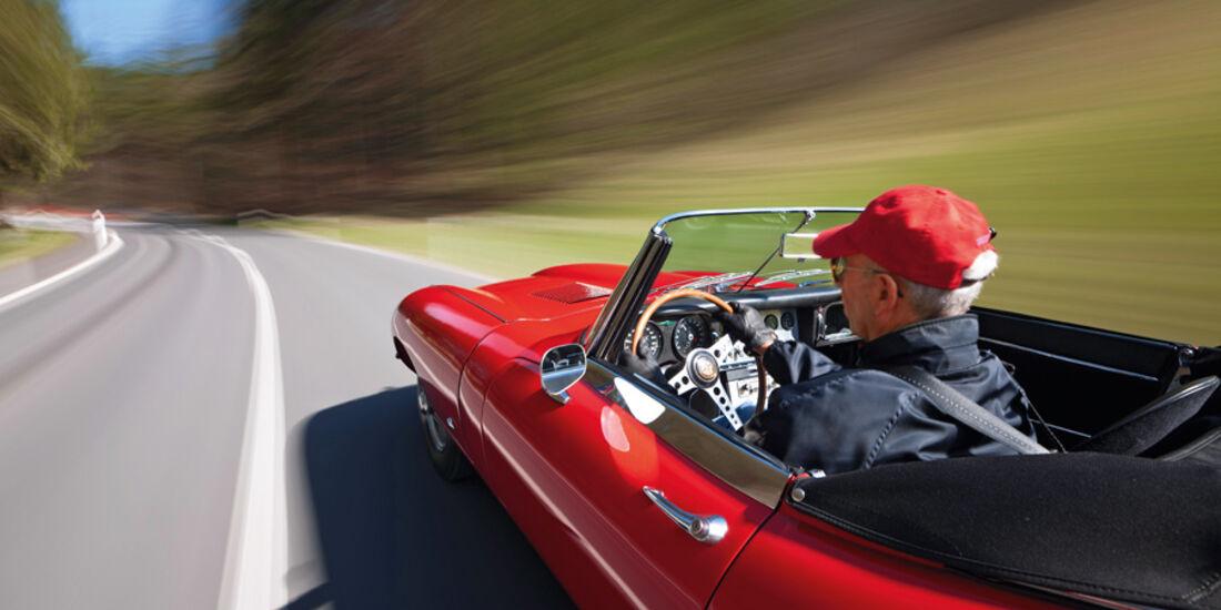 Jaguar E-Type Serie 1, Fahrt, Franz-Peter Hudek,