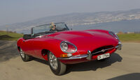 Jaguar E-Type Serie 1, Frontansicht, lange Front