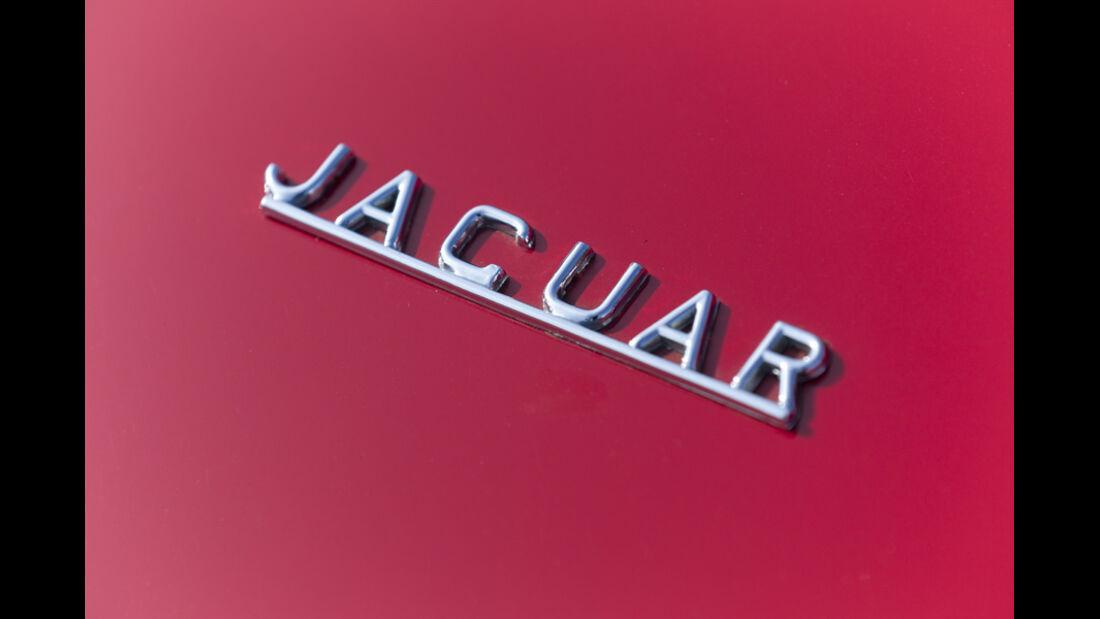 Jaguar E-Type Serie 1, Jaguar, Schriftzug, Emblem