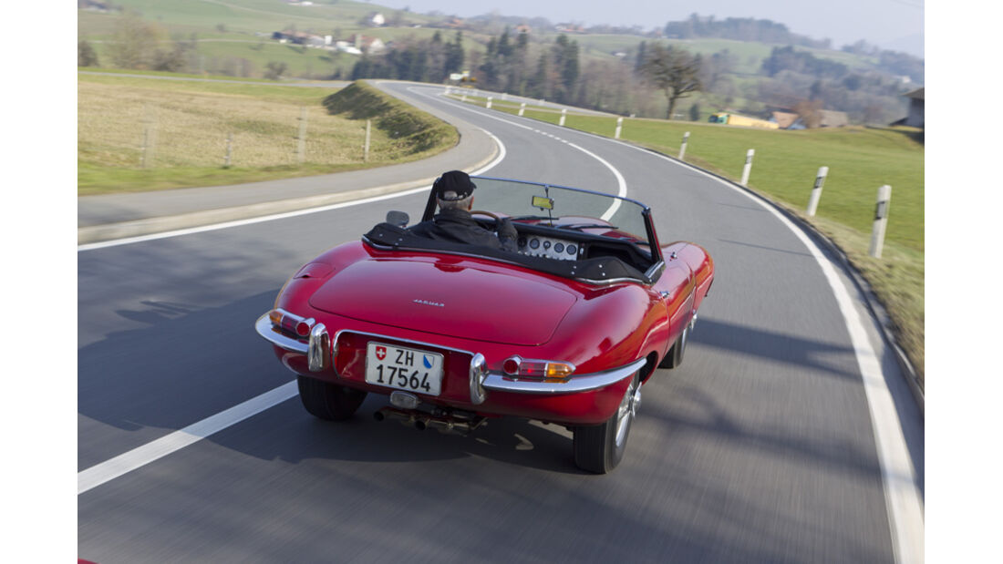 Jaguar E-Type Serie 1, Rückansicht