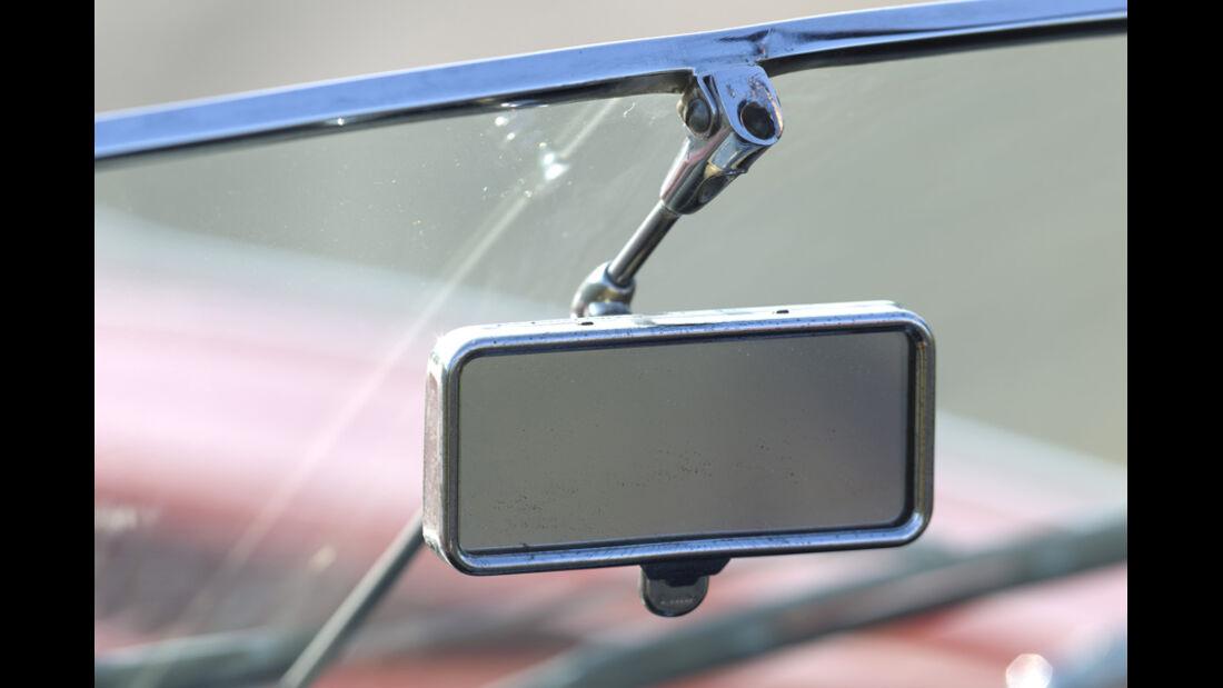 Jaguar E-Type Serie 1, Rückspiegel, Detail