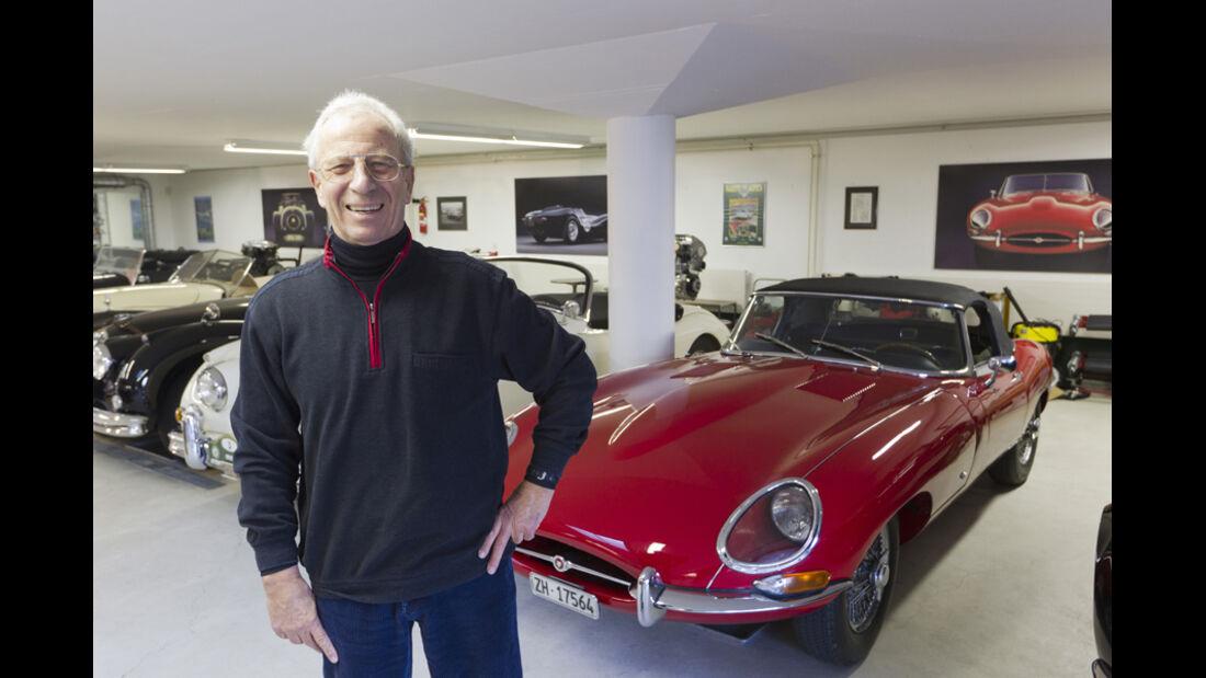 Jaguar E-Type Serie 1, Sammler, Garage, mehrere Fahrzeuge