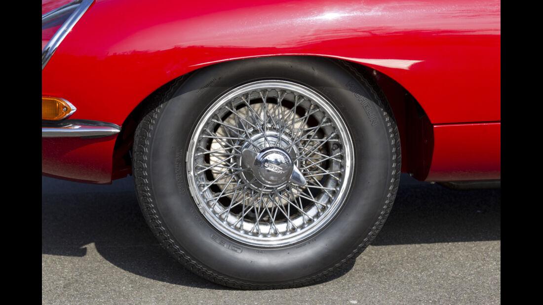 Jaguar E-Type Serie 1, Vorderrad, Felge